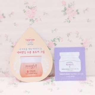 Etude House Toning White C & Moistfull Collagen Cream Sample