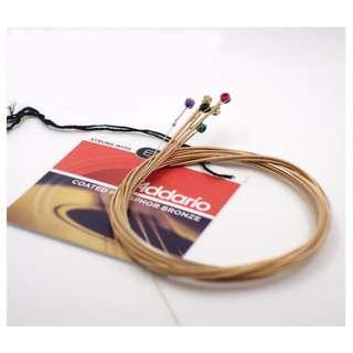 D'addario EXP16 0.12-0.53 Acoustic Guitar strings 磷銅木吉他弦 美國製