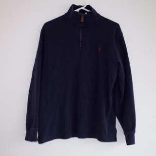 Ralph Lauren Cotton-Blend half-zip pullover (NAVY)