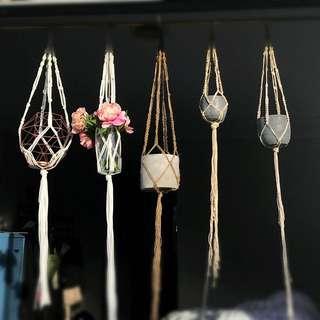 Asst Mecramé Pot Hangers