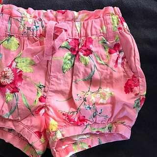 Baby Gap Floral Shorts