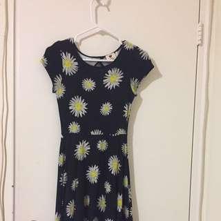 stylish cutout flower dress