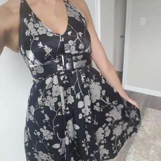 Halter Floral Print Dress