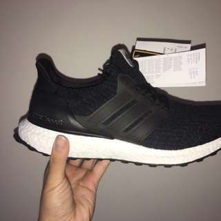 Brand New ULTRABOOST 3.0 Black Women's 7.5 Or Men's 6.5 US