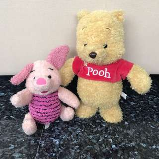 Musical pooh And Piglet Soft Toy