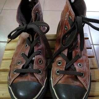 All Star 皮製高桶靴