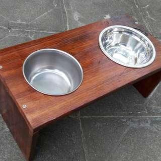《YI CHAN 純手做》寵物木質餐桌/增高架/碗架 免運費