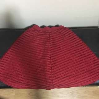 Red H&M A-line Skirt