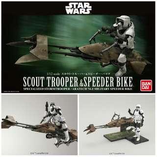 Scout Trooper with Speeder Bike Bandai Model Kit