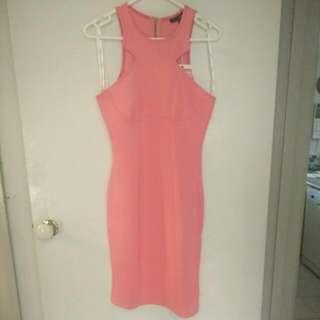 Ladakh Pink Bodycon Dress