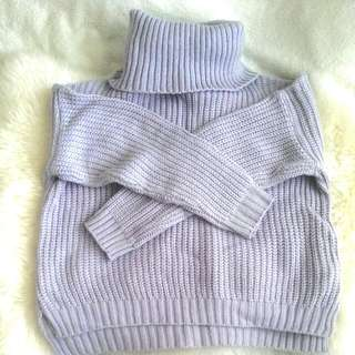 Make An Offer: Thick Knitted Purple Jumper