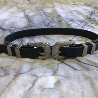 Rockshop Double Buckle Belt