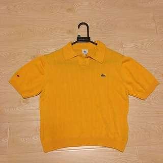 法國製Lacoste 黃色polo衫