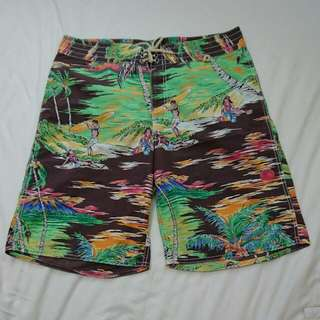 Polo夏威夷風海灘褲