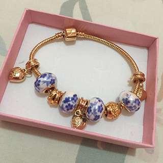 porcelain gold bracelet