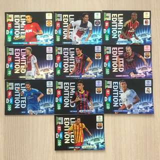 (CLEARANCE SALE!) Panini UEFA Champions League 2013/2014 Adrenalyn XL Football Cards