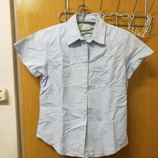 Latin 藍色牛津襯衫