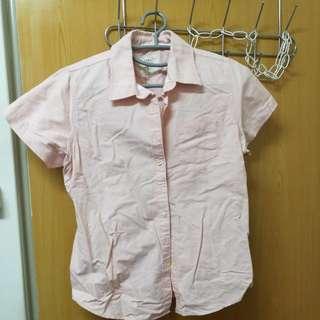 Latin 粉橘色牛津襯衫