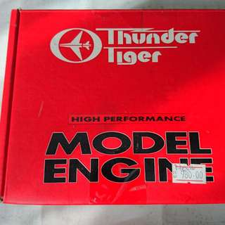 Thunder Tiger. 90 Two Stroke Aero Engine With Rare Bear Custom Pipe