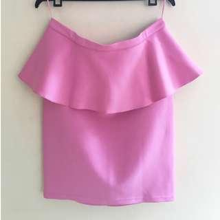 Topshop Pink Peplum Skirt