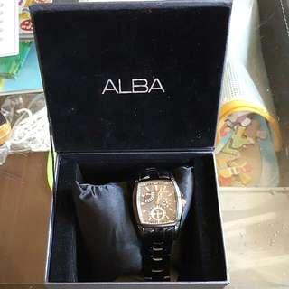 ⌚WIRED-ALBA三眼男性錶(全黑)
