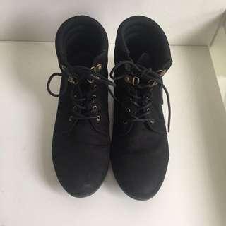 Forever 21 Black Ankle Boot
