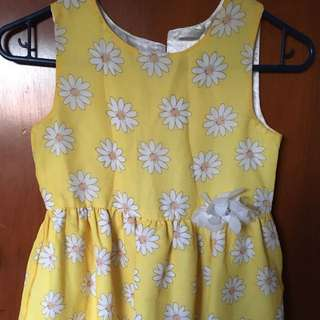 Floral Summer Dress (yellow)