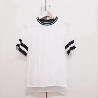 (Reduce!)H&M White Jersey Top