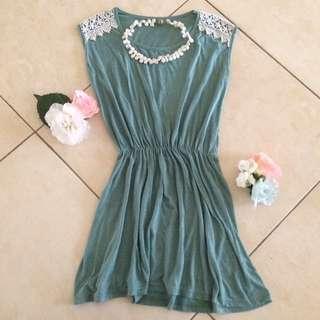 Dusty Green Minidress/T-shirt