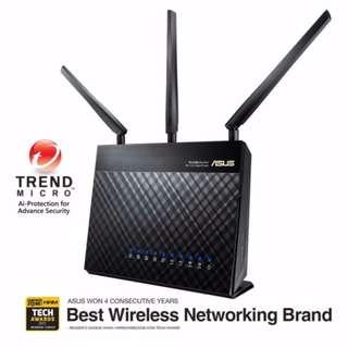 BNIB - Asus RT-AC68U W/L- AC1900 Dual Band Gigabit Router