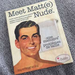 Meet Matt(e) Nude Eyeshadow