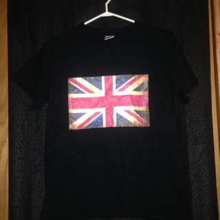 Black British Flag Tshirt