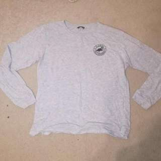 Long sleeve gray shirt