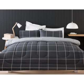 Queen Size Graphite Reversible Comfortor