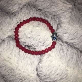 Simple Cute Red Bracelet With A Charm