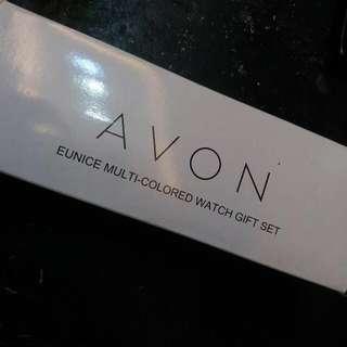 Avon Eunice Multi-Colored Watch Gift Set