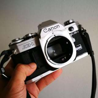 Canon AE-1 Silver Body Excellent Condition