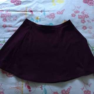 Burgundy Skater Skirt BNWT