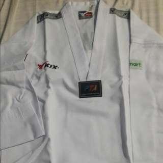 Upper Uniform For Taekwondo With White Belt