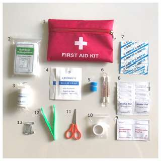 Basic First Aid Kit/ Small/ Essential/ Medical/ Emergency Kit/ Bag for Travel/ Hiking Sports