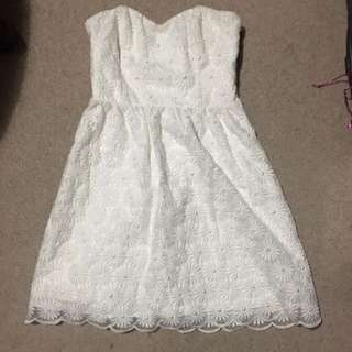 Forever New White Dress Size 8