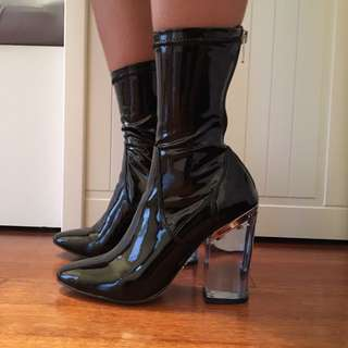 WINDSOR SMITH Blue Patent Boots