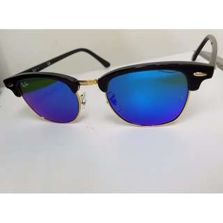 Ray Ban Sun Glasses (Blue Sliver)