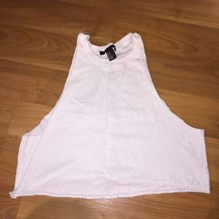 White Crop Top Perfect For Summer