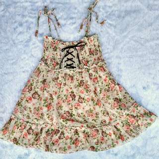 Flowery Dress / Flowery Top / Kawaii Dress / Kawaii Top