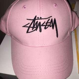 Pink Stussy cap