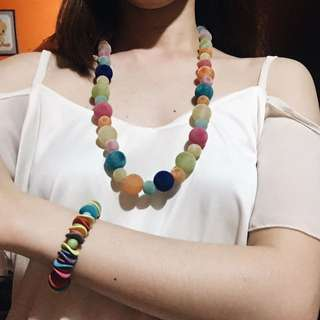 Colorful Bracelet & Necklace