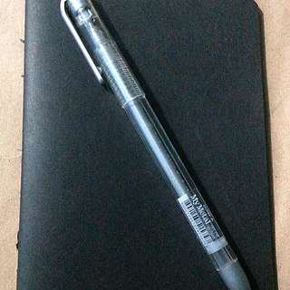 Black Construction Booklet With Dong-A Metal Silver Gel Pen
