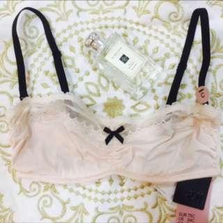 H&M 淡粉色蕾絲👙薄杯 胸罩🌸