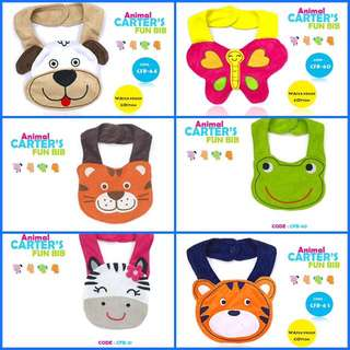 CARTER'S ANIMAL FUN BIB W150